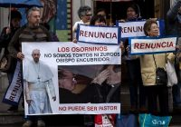 Chilean Catholics protest after the visit of Pope Francis