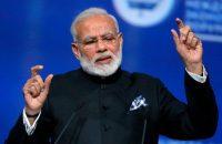 Indian Prime Minister Narendra Modi speaks in St. Petersburg, Russia on June 2. (Mikhail Metzel/TASS News Agency Pool Photo via AP)
