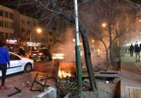 Unrest in the streets of Tehran on December 30, 2017. Credit Kyodo News via Getty Images