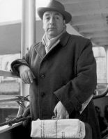 The poet Pablo Neruda in 1952. He persuaded Chile's president to offer asylum to some of the mistreated Spanish patriots rotting in French internment camps. Credit Gamma-Keystone, via Getty Images