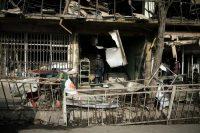 Après l'explosion de l'ambulance piégée, qui a fait 103 morts et 235 blessés, samedi, à Kaboul. Photo Sandra Calligaro
