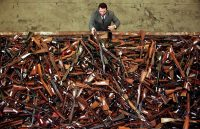 In Sydney, thousands of banned firearms were collected in 1997 as part of the Australian government's buyback program after the 1996 Port Arthur Massacre, in which 35 people died when a gunman went on a shooting rampage. Credit David Gray/Reuters