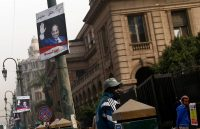 A campaign poster for President Abdel Fattah al-Sisi of Egypt in Cairo this month. Credit Amr Abdallah Dalsh/Reuters