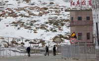 The Khunjerab Pass sits along the border of Pakistan and China's Xinjiang region, where strategic Belt and Road construction is underway. June 29, 2015. (Mian Khursheed/For The Washington Post)