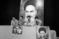 Political prisoners who recanted their views to support the Islamic Republic at a news conference at Evin Prison in Tehran in February 1986. Credit Kaveh Kazemi/Getty Images