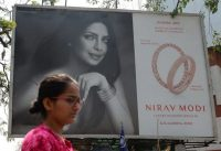 A billboard featuring Bollywood actress Priyanka Chopra promoted the store of luxury jeweler Nirav Modi earlier this month in Mumbai. (Punit Paranjpe/AFP/Getty Images)