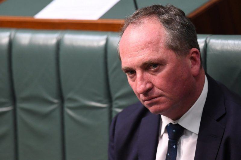 Barnaby Joyce, deputy prime minister of Australia, at a parliament session last year. Credit Lukas Coch/European Pressphoto Agency