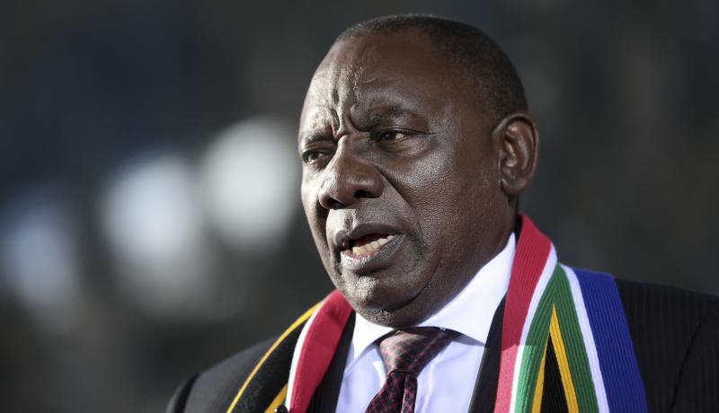 Cyril Ramaphosa in Davos on 24 January. Photo: Getty Images.