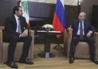 RUSSIAN PRESIDENT Vladimir Putin meets with Lebanese Prime Minister Hariri in Sochi in 2017.. (photo credit: REUTERS)