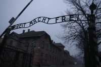 The gate at the Auschwitz concentration camp. (Kacper Pempel/Reuters)