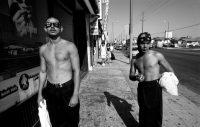 Miembros de la pandilla MS-13, en Los Ángeles en 1994 Credit Donna De Cesare