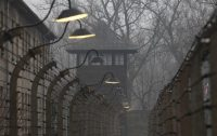 The Auschwitz concentration camp is seen on International Holocaust Remembrance Day in Oswiecim, Poland. (AP)
