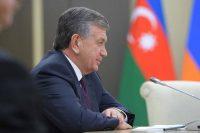 Alexei Druzhinin/Sputnik/AP Images President of the Republic of Uzbekistan Shavkat Mirziyoyev, 2017