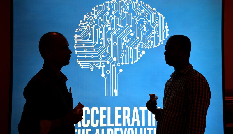Participants at an AI event in Bangalore. Photo: Getty Images.