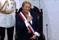 La expresidenta Michelle Bachelet durante la ceremonia de inauguración del presidente de Chile Sebastián Piñera el 11 de marzo en Valparaíso Credit Claudio Reyes/Agence France-Presse — Getty Images