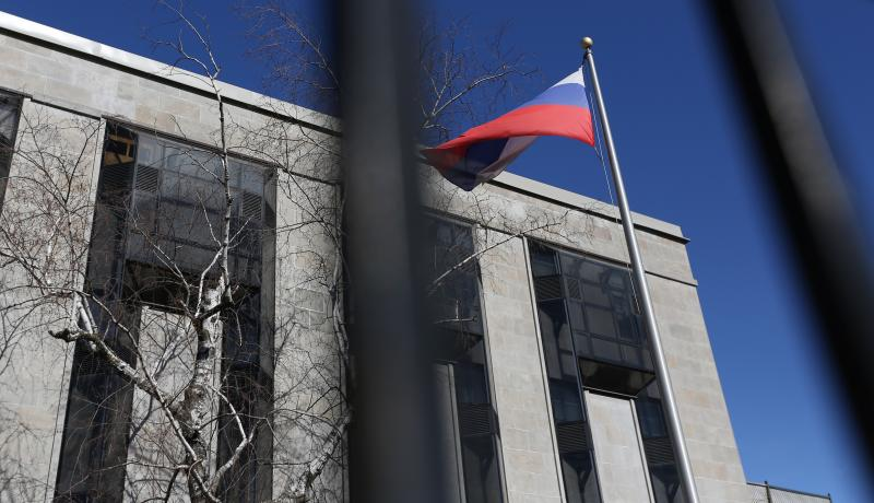 The Russian embassy in Ottawa. Canada joined Britain and other allies in expelling Russian diplomats in response to the Salisbury attack. Photo: Getty Images.