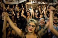 Protesting the slaying of Marielle Franco in Rio de Janeiro this month.CreditLeo Correa/Associated Press