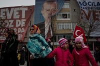 Turkish President Tayyip Erdogan said on March 14 a diplomatic row with the Netherlands could not be dismissed with an apology and warned of further possible measures, after Ankara suspended high-level diplomatic ties with the Dutch. (Chris McGrath/Getty Images)