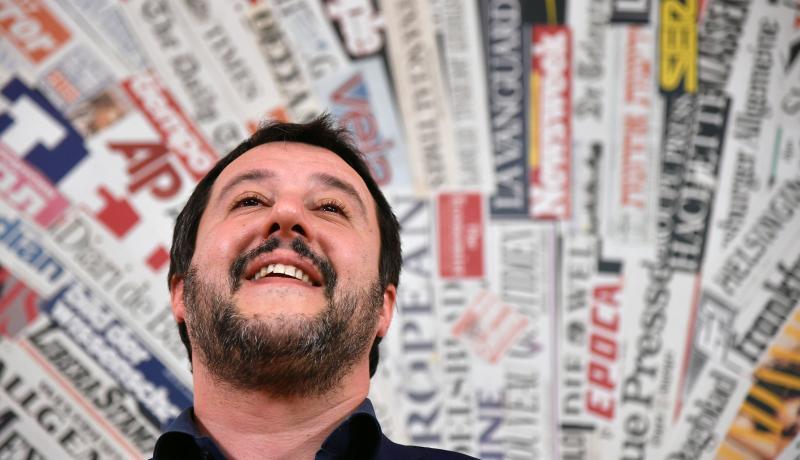 Matteo Salvini, leader of Lega. Photo: Getty Images.