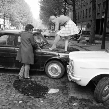 Boulevard Saint-Michel en Mai 68. Photo Keystone France