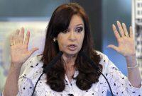 La expresidenta de Argentina Cristina Fernández de Kirchner durante un discurso en la Casa Rosada, el 22 de enero de 2014 Credit David Fernández/European Pressphoto Agency