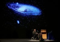 Stephen Hawking delivering a lecture on the origin of the universe in 2007. Credit Francois Lenoir/Reuters