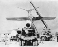 A TM-61C Matador being assembled at Osan Air Base, Pyeongtaek, South Korea, in 1958. Matadors could be armed with nuclear warheads. Credit Associated Press