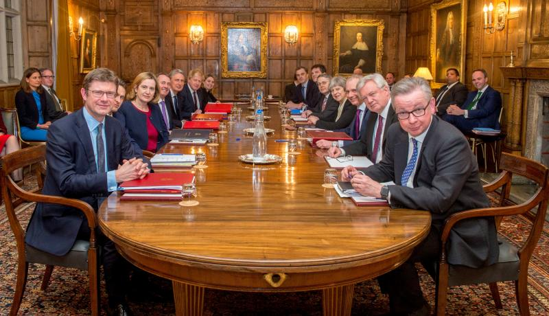The 'Brexit War Cabinet' at Chequers. Photo: Getty Images.