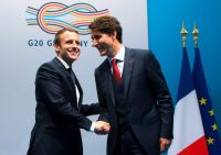 President Emmanuel Macron of France, left, and Prime Minister Justin Trudeau of Canada at the G20 summit in 2017. The two leaders, who were welcomed as young faces of reform, can't seem to get much of a lift from their countries' good economies.CreditPool photo by Ian Langsdon