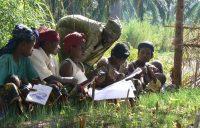 Agricultores de Burundi debaten sobre el uso de técnicas agroecológicas. ©FAO/Deborah Duveskog