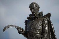 Una estatua de Miguel de Cervantes en Alcalá de Henares Credit Curto De La Torre/Agence France-Presse — Getty Images