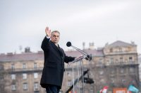 Prime Minister Viktor Orban of Hungary in front of the Parliament building in Budapest, last month.CreditTamas Soki/MTI, via Associated Press