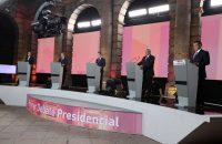 Los cinco candidatos a la presidencia de México en el primer debate, el domingo 22 de abril Credit Instituto Nacional Electoral/EPA, vía Shutterstock