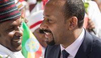 New prime minister Abiy Ahmed attends a rally in Ambo, Ethiopia. Photo by Zacharias Abubeker/AFP/Getty Images