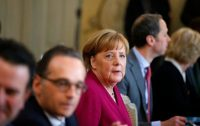Chancellor Angela Merkel of Germany during a government meeting near the city of Gransee on Thursday.CreditAxel Schmidt/Agence France-Presse — Getty Images
