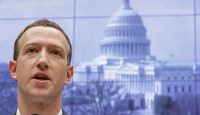 Mark Zuckerberg testifies on Capitol Hill. Photo: Getty Images.