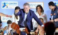 Iván Duque, el candidato presidencial del partido Centro Democrático de Colombia, en una conferencia en Bogotá el 11 de marzo de 2018 Credit Reuters