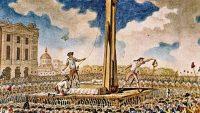 Grabado sobre las ejecuciones a guillotina durante la Revolución Francesa.