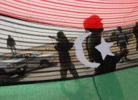 Libyan rebels gather on the outskirts al-Agila. (Nasser Nasser/AP)