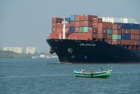 A container ship in the Cochin lagoon in Kerala, India last year.CreditFrédéric Soltan/Corbis, via Getty Images