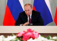 Vladimir Putin in St. Petersburg in March. Last week, Russia announced it would expel 60 American diplomats.CreditPool photo by Anatoly Maltsev/Epa-Efe/Rex/Shutterstock
