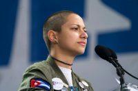 Emma González durante su discurso en la Marcha por nuestras vidas en Washington, el 24 de marzo de 2018 Credit Jim Lo Scalzo/EPA, vía Shutterstock