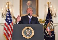 President Trump addresses the situation in Syria from the White House. (Mandel Ngan )