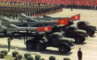 A military parade in Pyongyang in 1992 celebrated the 60th anniversary of the North Korean Army, as documented in a government photo.CreditKorean Central News Agency/Korea News Service, via Associated Press