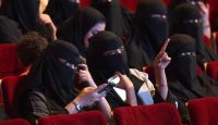 Saudi women attend a short film festival in Riyadh in 2017. Photo: Getty Images.