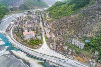VCG/VCG via Getty Images Ruins from one of the most significant earthquakes in Chinese history, pictured a month before the tenth anniversary of the earthquake, Beichuan county, Mianyang, Sichuan, China, April 5, 2018