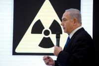 Prime Minister Benjamin Netanyahu of Israel on Monday discussing a covert Israeli operation in which documents about Tehran's nuclear program were smuggled out of Iran.CreditAmir Cohen/Reuters