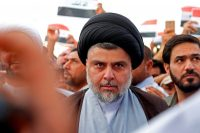 The Shiite cleric Moktada al-Sadr at a demonstration in April against the bombings of Syria by Britain, France and the United States.CreditHaidar Hamdani/Agence France-Presse — Getty Images