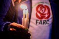 Un seguidor del partido Fuerza Alternativa Revolucionaria del Común (Farc) en Bogotá a principios de abril de 2018 Credit Raúl Arboleda/Agence France-Presse — Getty Images
