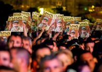 Supporters of the Armenian opposition leader Nikol Pashinyan at a rally on Tuesday after his bid to become prime minister was blocked by Parliament.CreditGleb Garanich/Reuters